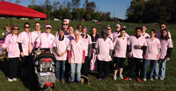 Team OSSVH from Making Strides Against Breast Cancer Walk 2013